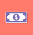 paper sticker on stylish background dollar money vector image vector image