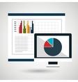 pc board statistics icon vector image