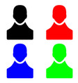 people figure icons in multiple colors vector image vector image