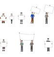 people with banners vector image vector image