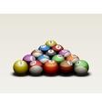 Pool balls isolated vector image