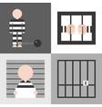 prisoner flat design vector image vector image