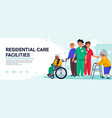 residential care facilities concept group of vector image vector image