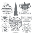 set lumberjack and woodsman vector image