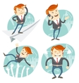 Set of hipster officeman Office man flying an vector image vector image