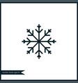 snowflake icon simple vector image vector image
