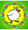 Spring chicken vector image