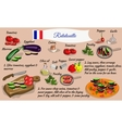 Step by step recipe of ratatouille French cuisine vector image
