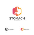stomach logo template design stomach care logo vector image