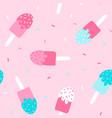 sweet ice cream pattern seamless vector image