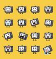 television character emoji set vector image