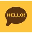 The hello icon Greet and hi symbol Flat vector image
