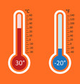 thermometers icon goal flat isolated on orange vector image vector image