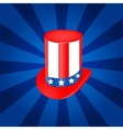 Top hat in USA flag color vector image vector image