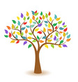 tree with colorful leaves concept icon vector image