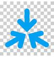 triple collide arrows icon vector image vector image