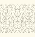 vintage beige ornamental seamless pattern vector image vector image