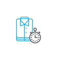 washing ironing clothes linear icon concept vector image