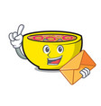 with envelope soup union character cartoon vector image vector image