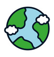 world save conservation ecology environment icon vector image
