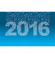 2016 snowflakes Snow falls on the figures New year vector image vector image