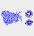 airlines collage nuku hiva island map and vector image vector image