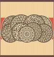 asian ornamental card vector image vector image