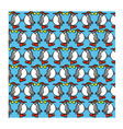 Background with funny penguins vector image vector image