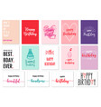 birthday cards set birthday cards set vector image vector image