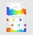 Brochure template design with rainbow elements vector image vector image