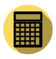 calculator simple sign flat black icon vector image