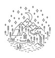camping nature scene vector image