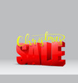 christmas sale banner design vector image vector image