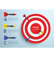dart and target infographic template business con vector image