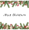 Decorative traditional Merry Christmas frame vector image