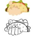 delicious taco colored mascot logo premium vector image vector image