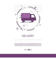delivery service truck web banner with copy space vector image vector image
