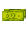 dollar bills or banknotes cash money currency vector image