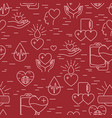 donation blood pattern vector image vector image