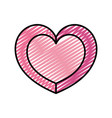 doodle cute heart to passion symbol style vector image vector image