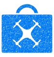 Drone Toolbox Grainy Texture Icon vector image