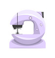 electronic sewing machine modern equipment of vector image
