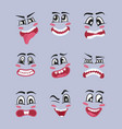 emoji characters cartoon set vector image