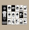 ethnic style cards with elephants for your design vector image vector image