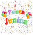 festa junina traditional brazil party vector image vector image