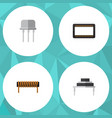flat icon technology set of destination resist vector image vector image