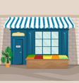 food shop facade in retro style vector image vector image