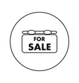 for sale icon flat thin line vector image vector image