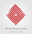 Funding and grants agency business icon vector image vector image