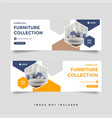 furniture sale facebook cover banner ad template vector image